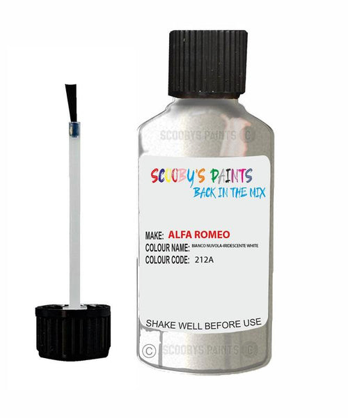 ALFA-ROMEO-CAR-Touch-Up-Paint-BIANCO-NUVOLA-IRIDESCENTE-WHITE