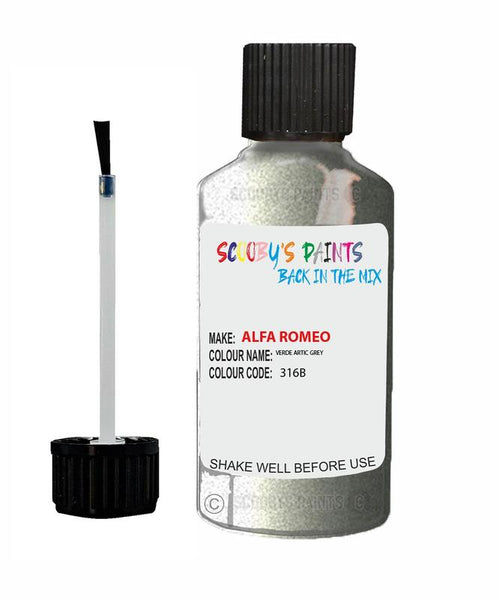 ALFA-ROMEO-CAR-Touch-Up-Paint-VERDE-ARTIC-GREY