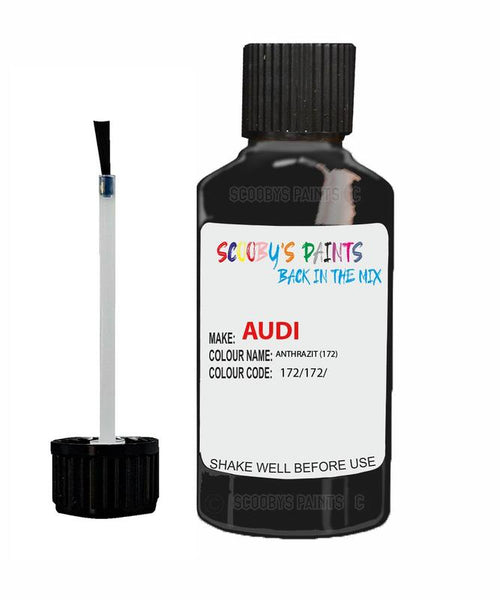 Audi A5 Anthrazite Code 172 Touch Up Paint 2006-2009