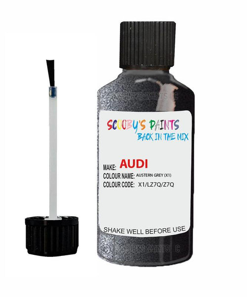 audi a6 austern grey code x1 touch up paint 2002 2016 Scratch Stone Chip Repair