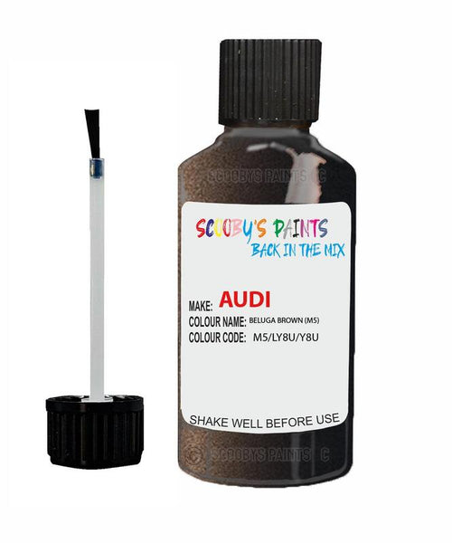 Audi S5S Beluga Brown Code M5 Touch Up Paint 2012-2018