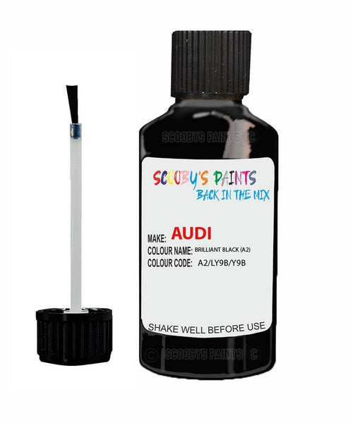 Audi A5 Cabrio Brilliant Black Code A2/Ly9B/Y9B Touch Up Paint 1997-2018