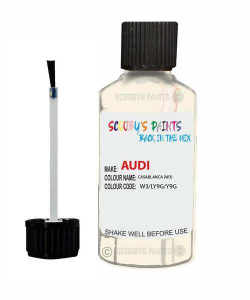 Audi A3 Casablanca Code W3 Touch Up Paint 1994-2003