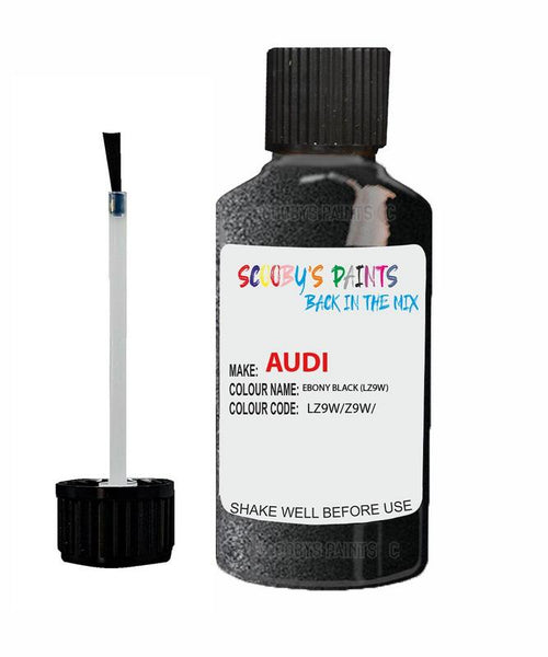 audi a6 ebony black code lz9w touch up paint 1999 2014 Scratch Stone Chip Repair