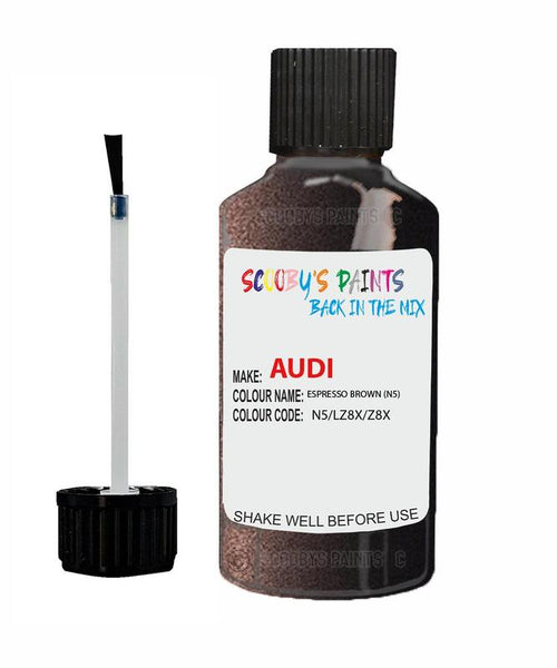 Audi S8 Espresso Brown Code N5 Touch Up Paint 2001-2004