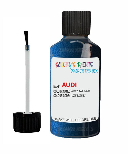 Audi A6 Europa Blue Code Lz5T Touch Up Paint 1990-2000