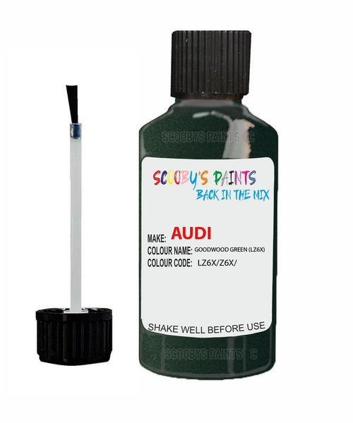 Audi A6 Goodwood Green Code Lz6X Touch Up Paint 1999-2005