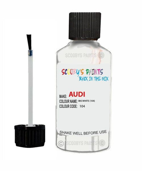 Audi A4/S4 Ibis White Code 104 Touch Up Paint 2006-2017