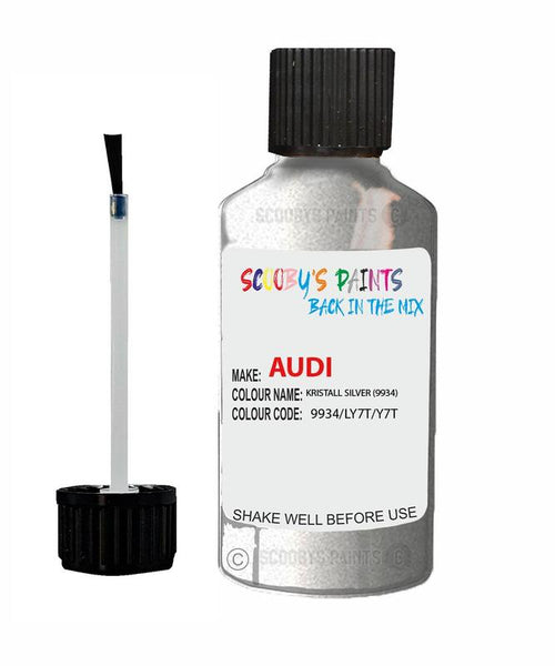 Audi A4 Kristall Silver Code 9934/Ly7T/Y7T Touch Up Paint 1990-1999