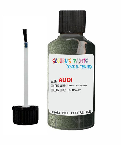 Audi A4/S4 Lorbeer Green Code Ly6R Touch Up Paint 1999-2004