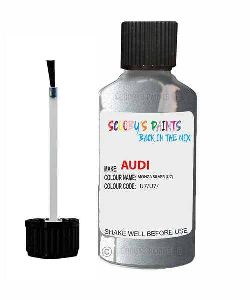 Audi A4 Monza Silver Code U7 Touch Up Paint