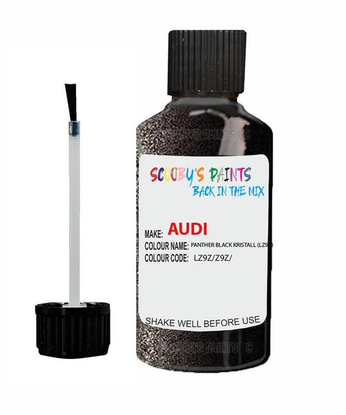 Audi Tt S-Line Panther Black Kristall Code Lz9Z Touch Up Paint 2010-2018