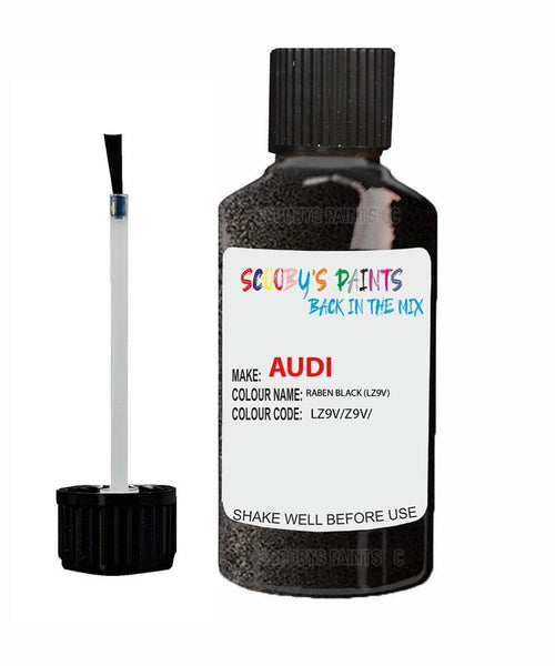 audi tt raben black code lz9v touch up paint 1999 2004 Scratch Stone Chip Repair