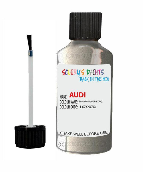 Audi A5 Cabrio Sahara Silver Code Lx7X Touch Up Paint