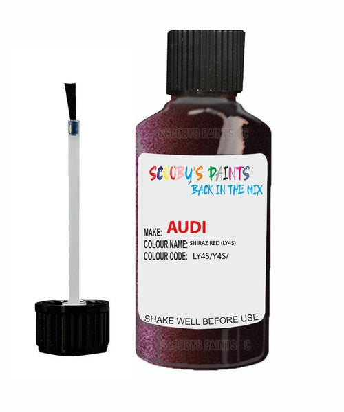 Audi A5 Coupe Shiraz Red Code Ly4S Touch Up Paint 2010-2016