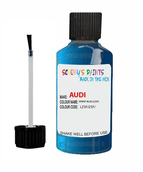 Audi A5 Coupe Sprint Blue Code Lz5F Touch Up Paint 2003-2015