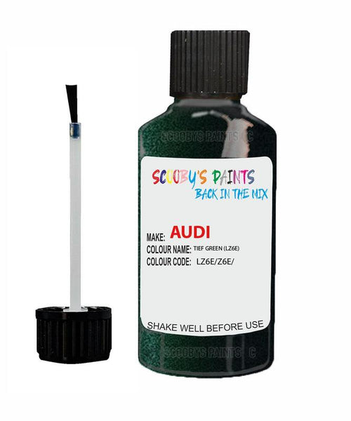 Audi A5 Tief Green Code Lz6E Touch Up Paint 2003-2014