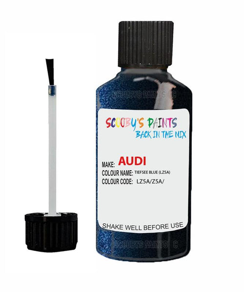 Audi A5 Coupe Tiefsee Blue Code Lz5A Touch Up Paint 2006-2015