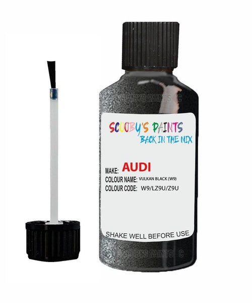 Audi A3/S3 Vulkan Black Code W9 Touch Up Paint 1993-1999