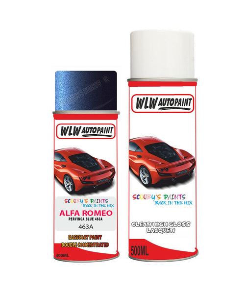 Alfa Romeo 146 Pervinca Blue Aerosol Spray Car Paint + Clear Lacquer 463A