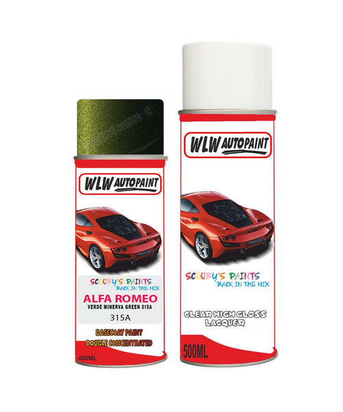 Alfa Romeo 146 Verde Minerva Green Aerosol Spray Car Paint + Clear Lacquer 315A