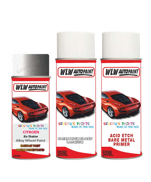 Citroen C15 Alu Shadow Alloy Wheel Aerosol Spray Paint Fvx