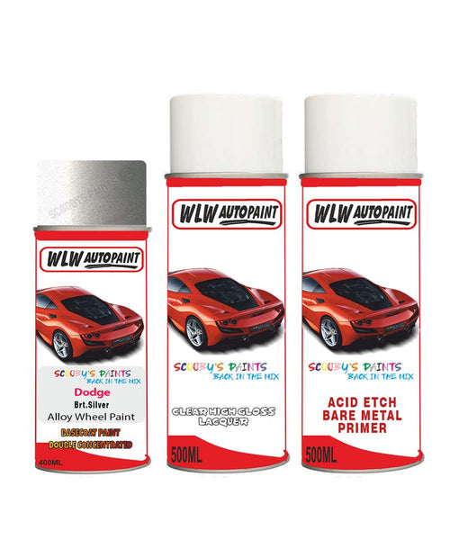 Dodge Challenger Brt.Silver Alloy Wheel Aerosol Spray Paint Ps2/Qs2