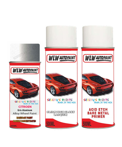 Citroen Nemo Gris Aluminum Alloy Wheel Aerosol Spray Paint Ezr
