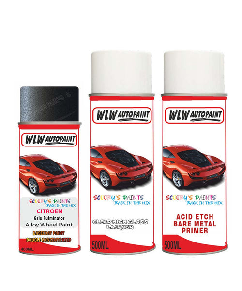 Citroen Nemo Gris Fulminator Alloy Wheel Aerosol Spray Paint Eyp