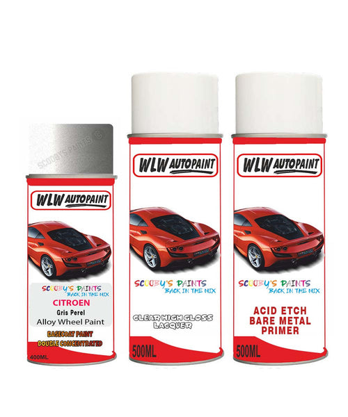 Citroen Nemo Gris Perel Alloy Wheel Aerosol Spray Paint Eve 1980-1990