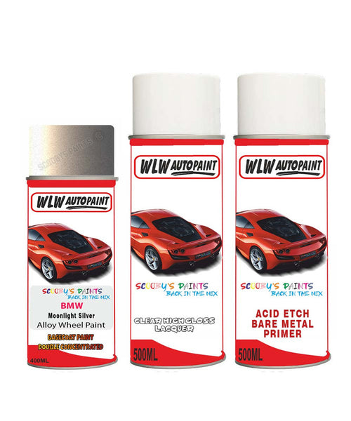 Bmw I8 Moonlight Silver Alloy Wheel Aerosol Spray Paint B66