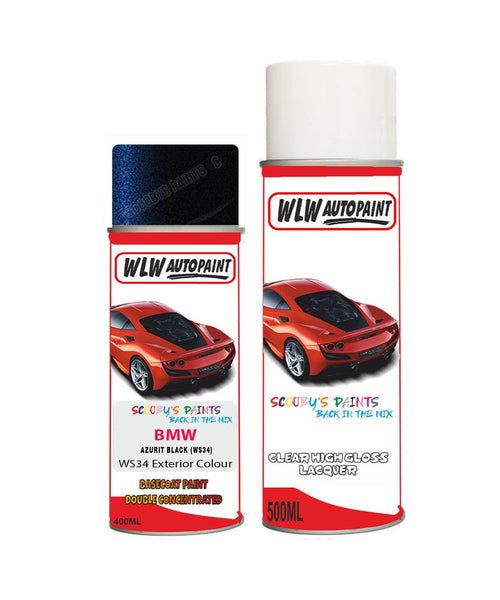 Bmw 7 Series Azurite Black Ws34 Car Aerosol Spray Paint Rattle Can