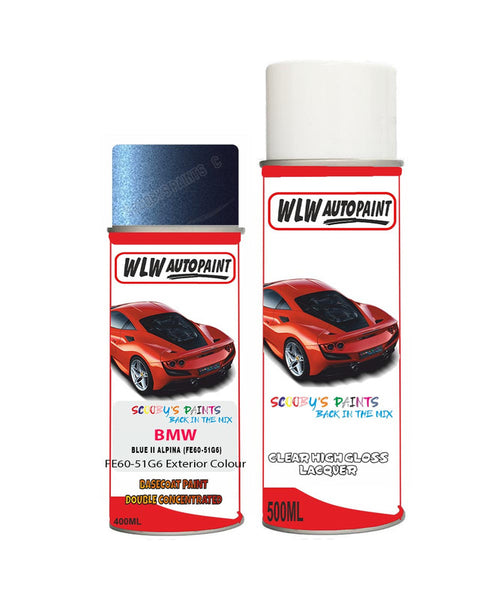 Bmw 5 Series Blue Ii Alpina Fe60-51G6 Aerosol Spray Paint Can