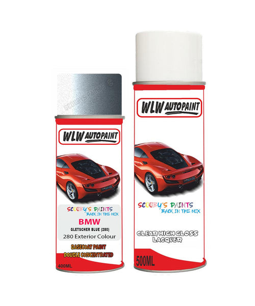 Bmw 3 Series Gletscher Blue 280 Car Aerosol Spray Paint Rattle Can