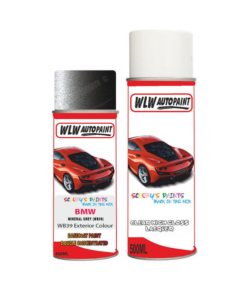 Bmw 5 Series Mineral Grey Wb39 Car Aerosol Spray Paint Rattle Can