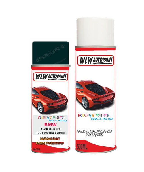Bmw 3 Series Nautic Green 322 Car Aerosol Spray Paint Rattle Can