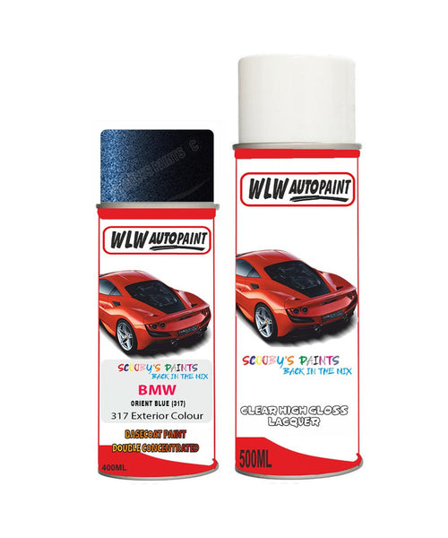Bmw 7 Series Orient Blue 317 Car Aerosol Spray Paint Rattle Can