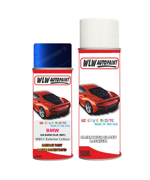 bmw-6-series-san-marino-blue-wb51-car-aerosol-spray-paint-and-lacquer-2012-2018 Body repair basecoat dent colour