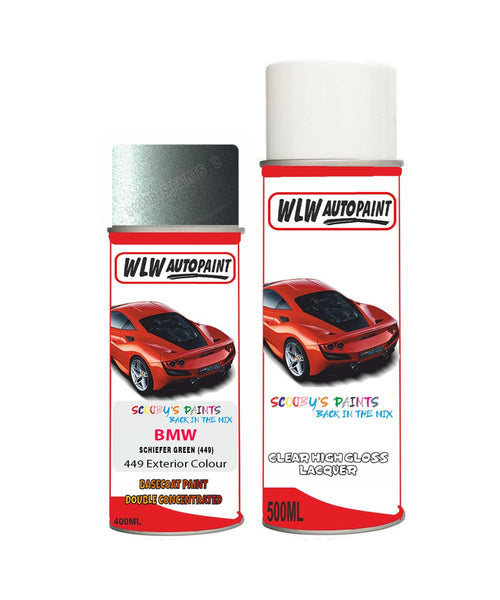 Bmw 7 Series Schiefer Green 449 Car Aerosol Spray Paint Rattle Can