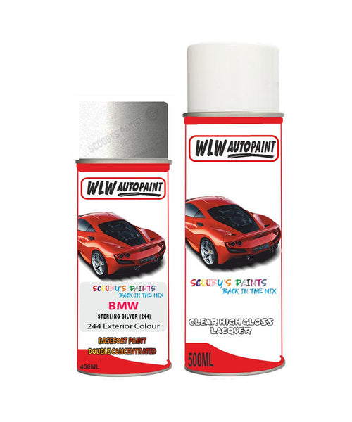 Bmw 7 Series Sterling Silver 244 Car Aerosol Spray Paint Rattle Can