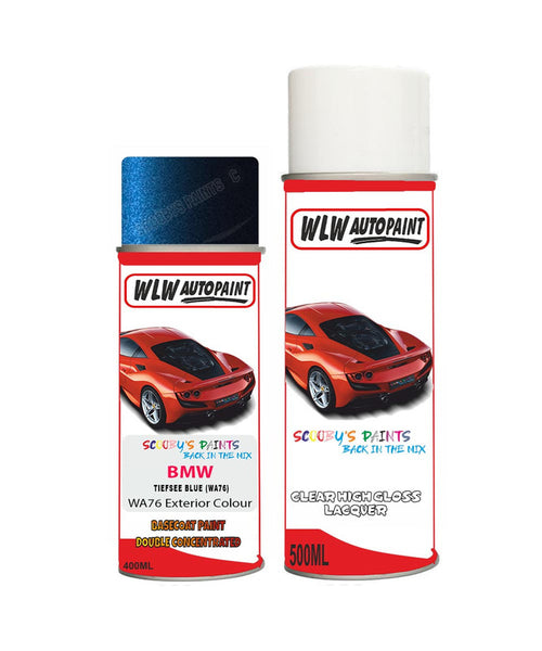 Bmw 6 Series Tiefsee Blue Wa76 Car Aerosol Spray Paint Rattle Can