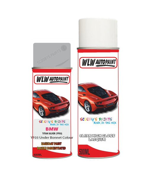 Bmw Z4 Titan Silver Yf03 Car Aerosol Spray Paint Rattle Can