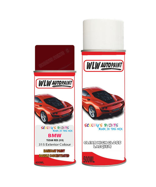 BMW 5 SERIES TIZIAN RED (315) Car Aerosol Spray Paint and Lacquer 1990-1993