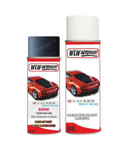 BMW 5 SERIES TOLEDO BLUE (482) Car Aerosol Spray Paint and Lacquer 2001-2009