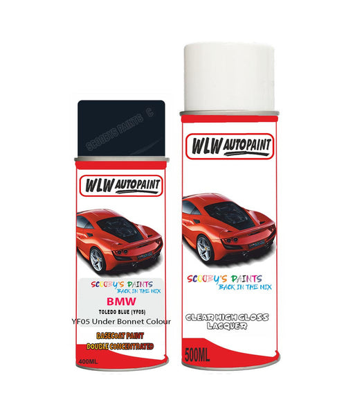 BMW 5 SERIES TOLEDO BLUE (YF05) Car Aerosol Spray Paint and Lacquer 2001-2013