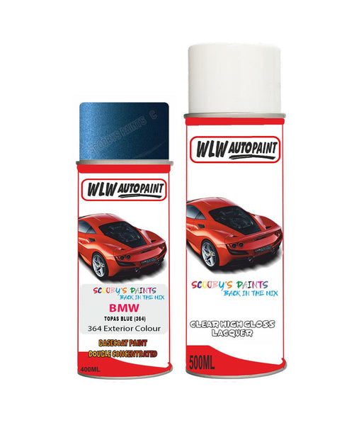 BMW 5 SERIES TOPAS BLUE (364) Car Aerosol Spray Paint and Lacquer 1998-2004