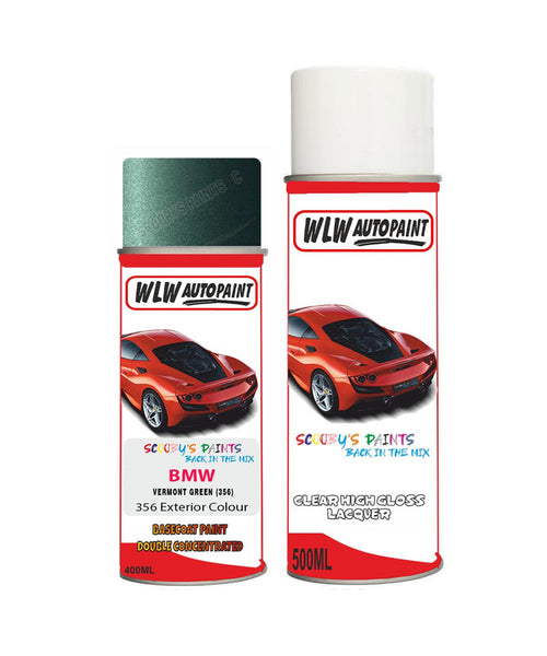 BMW 5 SERIES VERMONT GREEN (356) Car Aerosol Spray Paint and Lacquer 1996-2000