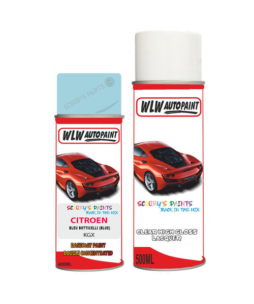 Citroen C1 Bleu Botticelli Aerosol Spray Car Paint + Lacquer Kgx