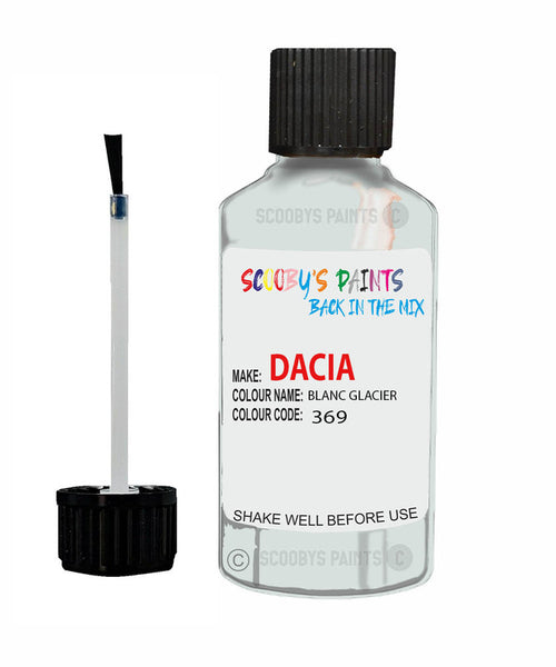 Dacia Sandero Blanc Glacier (White) Code: 369 Car Touch Up Paint