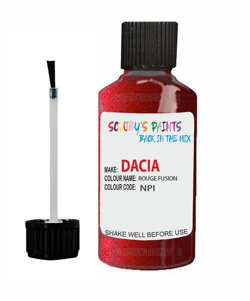 Dacia Dokker Rouge Fusion (Red) Code: Npi Car Touch Up Paint